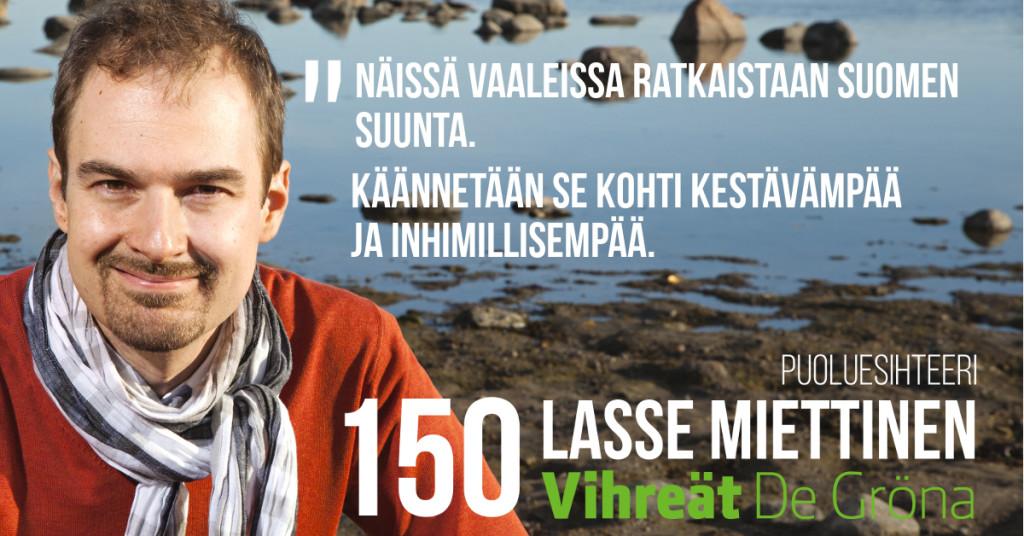Lasse Miettinen: Mistä näissä vaaleissa on kyse?